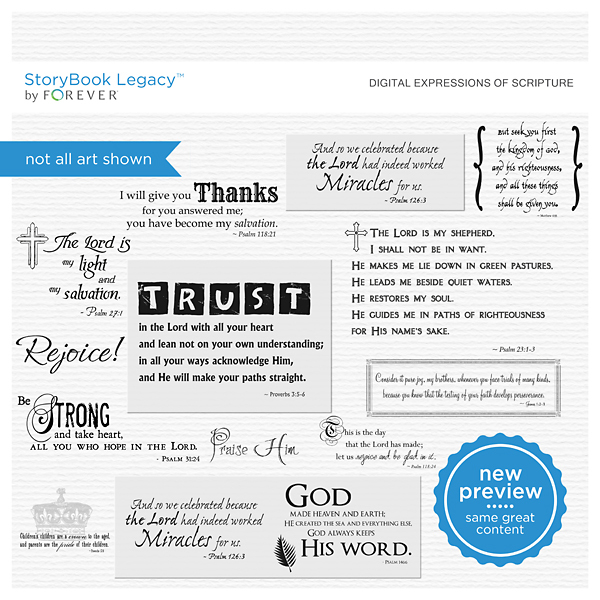 Digital Expressions Of Scripture Digital Art - Digital Scrapbooking Kits