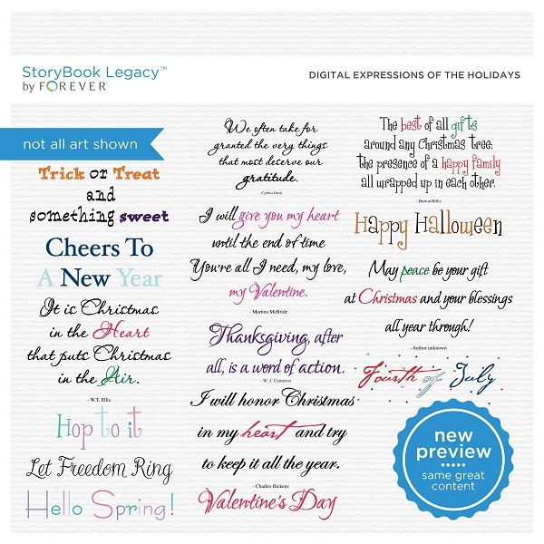 Digital Expressions Of The Holidays Digital Art - Digital Scrapbooking Kits