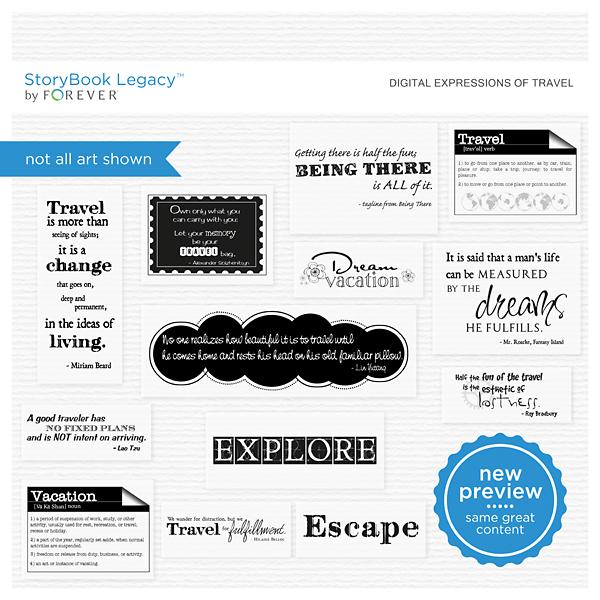 Digital Expressions Of Travel Digital Art - Digital Scrapbooking Kits