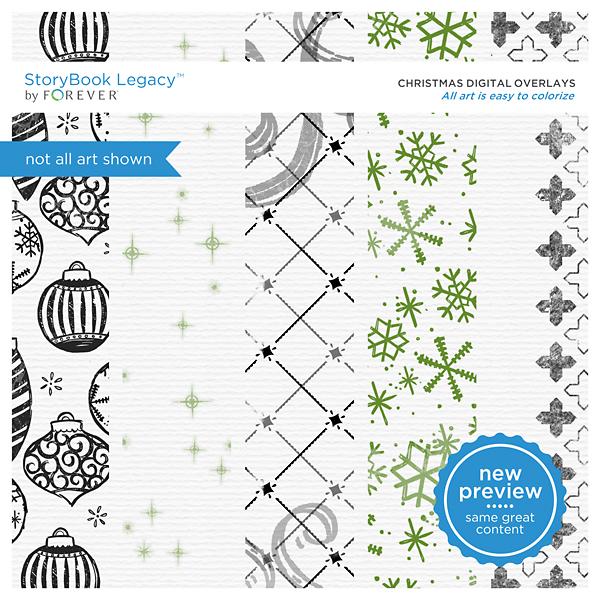 Christmas Digital Overlays Digital Art - Digital Scrapbooking Kits
