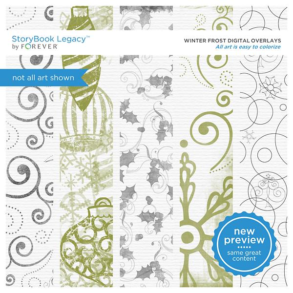 Winter Frost Digital Overlays Digital Art - Digital Scrapbooking Kits