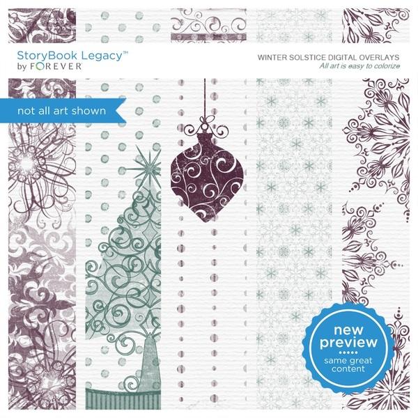 Winter Solstice Digital Overlays Digital Art - Digital Scrapbooking Kits