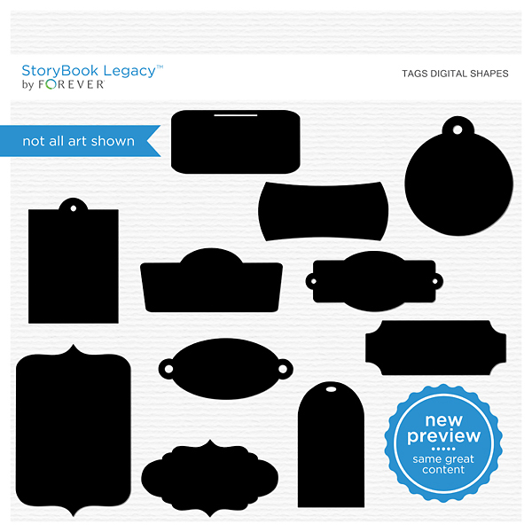 Tags Digital Shapes Digital Art - Digital Scrapbooking Kits