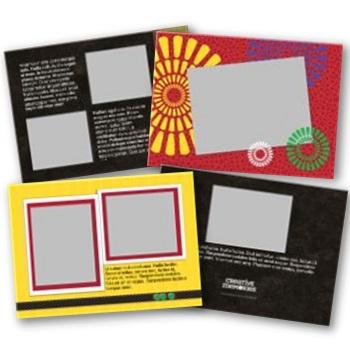 Kwanzaa 5x7 Landscape Folded Card Templates (Canceled)