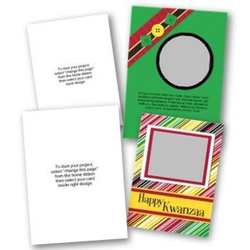 Kwanzaa 5x7 Portrait Folded Card Templates (Canceled)