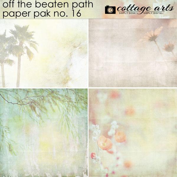 Off The Beaten Path 16 Paper Pak Digital Art - Digital Scrapbooking Kits