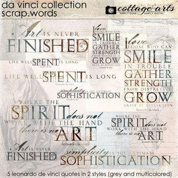 Da Vinci Collection Scrap.words Digital Art - Digital Scrapbooking Kits