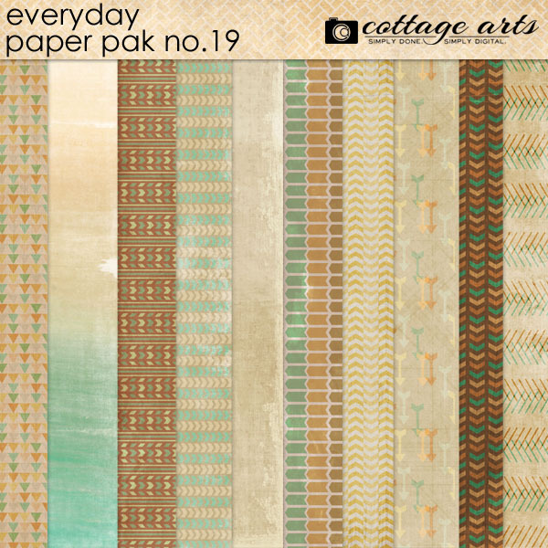 Everyday 19 Paper Pak Digital Art - Digital Scrapbooking Kits