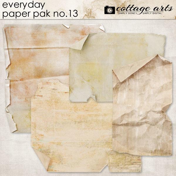 Everyday 13 Paper Pak Digital Art - Digital Scrapbooking Kits