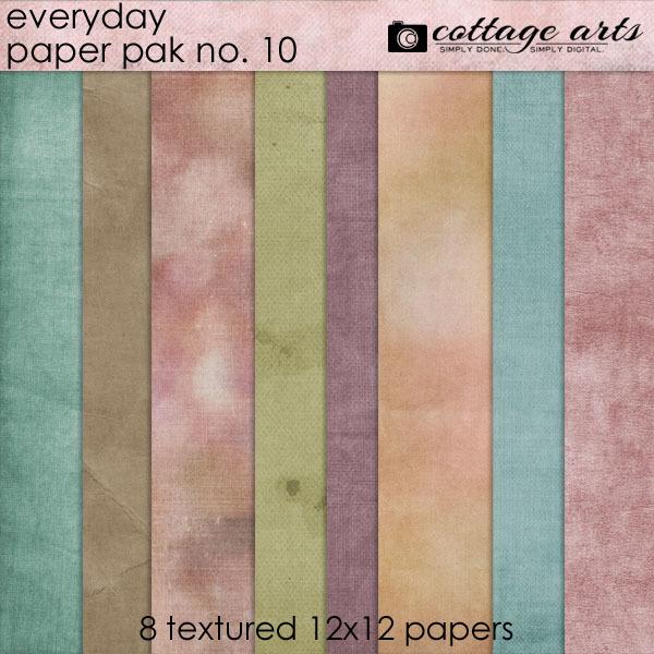 Everyday 10 Paper Pak Digital Art - Digital Scrapbooking Kits