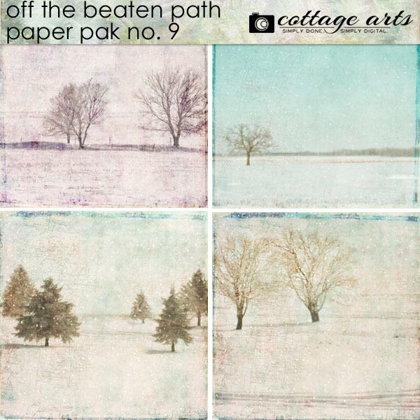 Off The Beaten Path 9 Paper Pak Digital Art - Digital Scrapbooking Kits