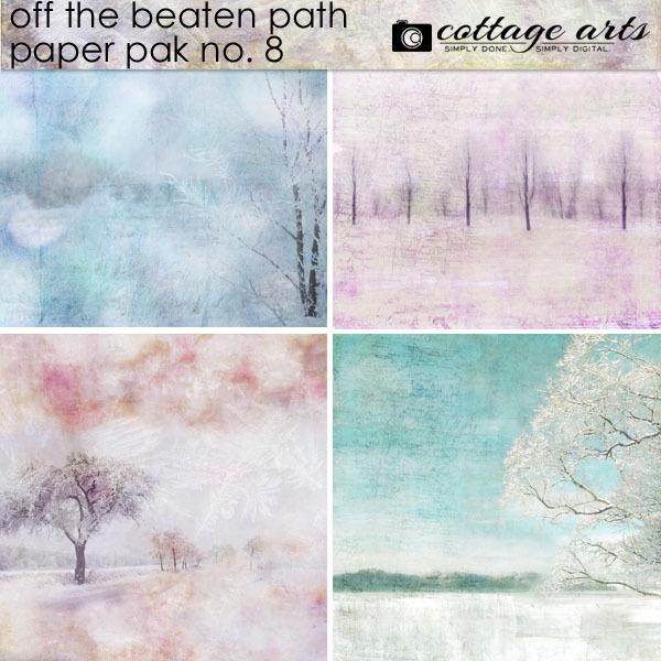 Off The Beaten Path 8 Paper Pak Digital Art - Digital Scrapbooking Kits