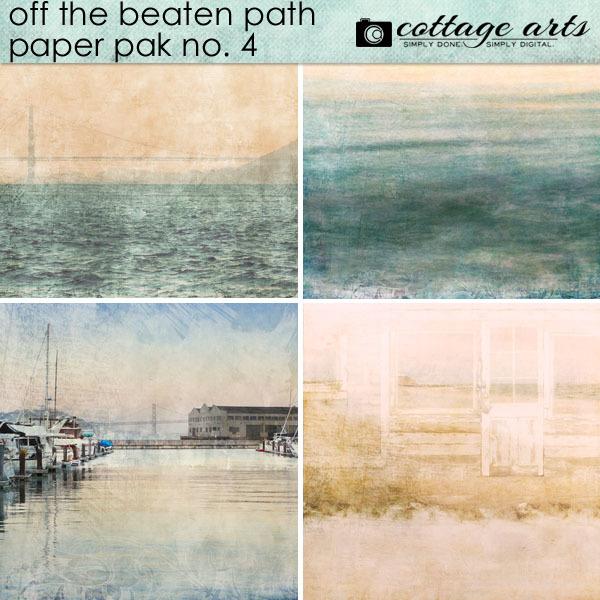 Off The Beaten Path 4 Paper Pak Digital Art - Digital Scrapbooking Kits