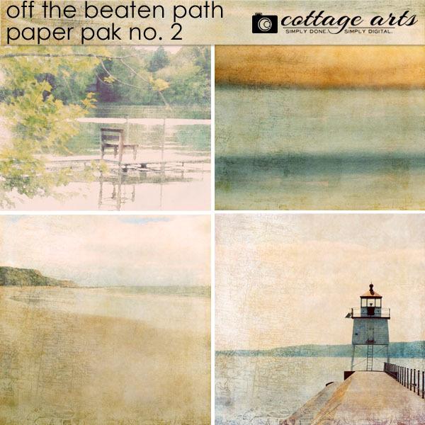 Off The Beaten Path 2 Paper Pak Digital Art - Digital Scrapbooking Kits
