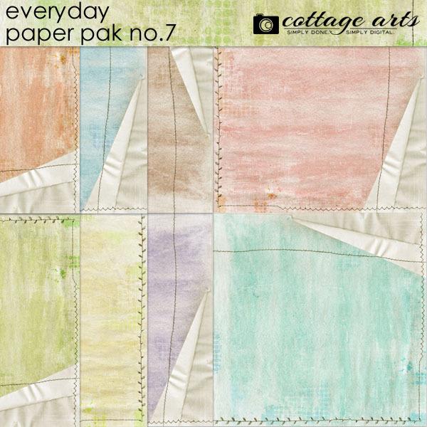 Everyday 7 Paper Pak Digital Art - Digital Scrapbooking Kits