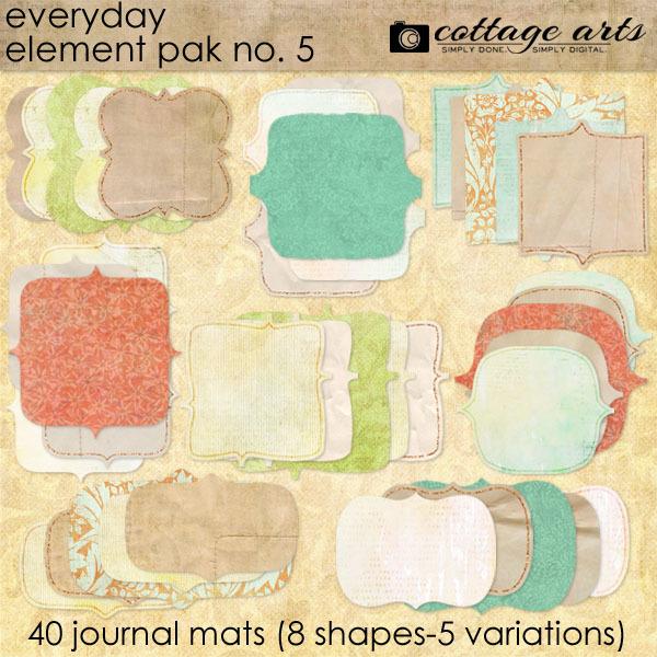 Everyday Element Pak 5 - Mats Digital Art - Digital Scrapbooking Kits