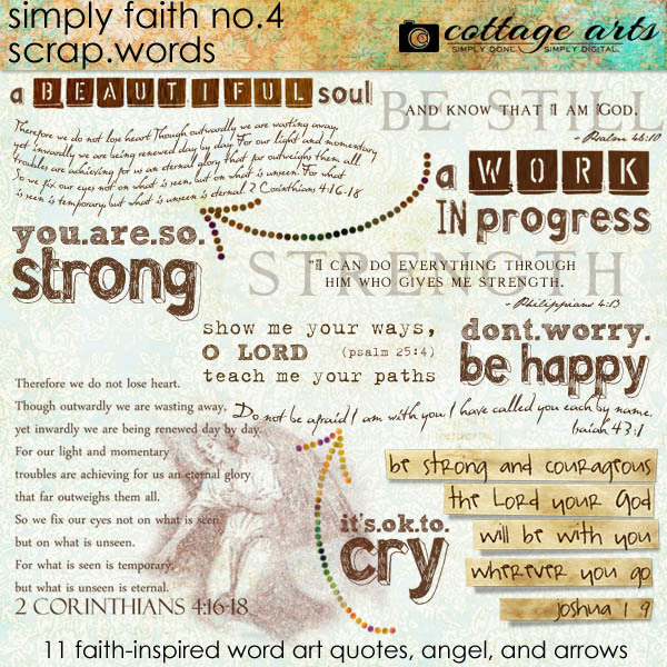 Simply Faith 4 Scrap.Words Digital Art - Digital Scrapbooking Kits