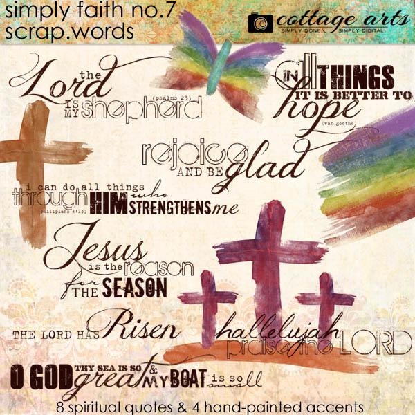 Simply Faith 7 Scrap.Words Digital Art - Digital Scrapbooking Kits