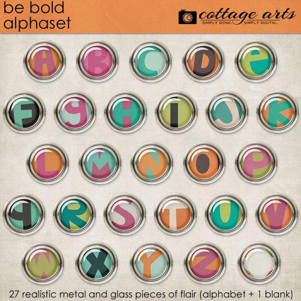 Be Bold Alphaset Digital Art - Digital Scrapbooking Kits