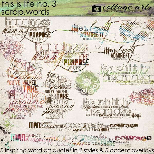 This Is Life 3 Scrap.words Digital Art - Digital Scrapbooking Kits