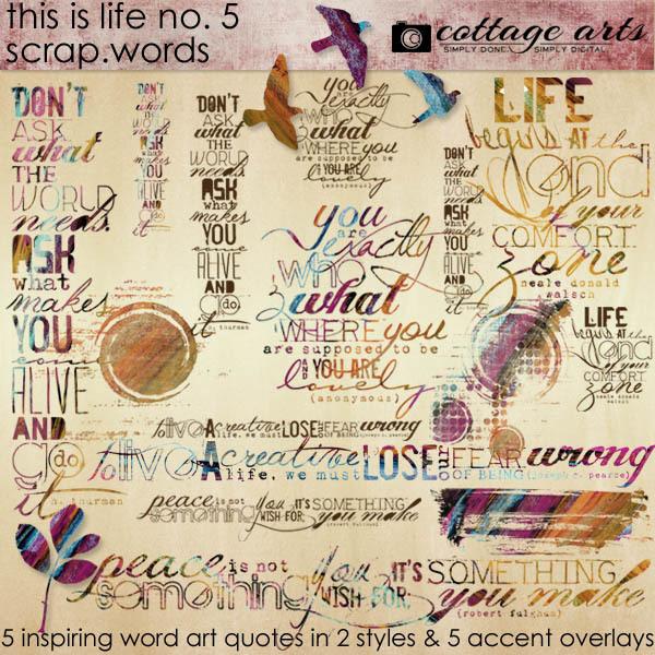This Is Life 5 Scrap.words Digital Art - Digital Scrapbooking Kits