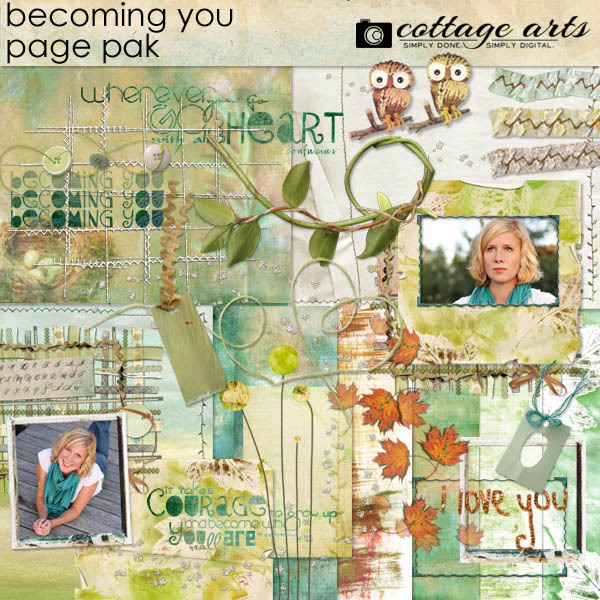 Becoming You Page Pak Digital Art - Digital Scrapbooking Kits