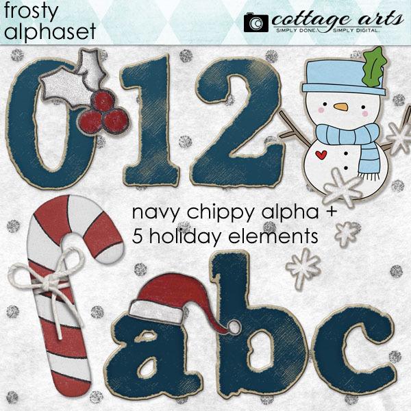 Frosty AlphaSet Pak Digital Art - Digital Scrapbooking Kits