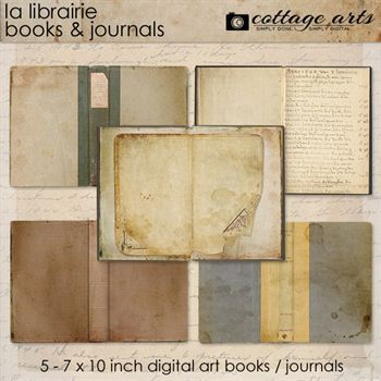 La Librairie Journal Pak Digital Art - Digital Scrapbooking Kits