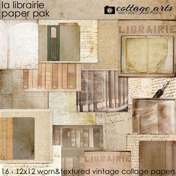La Librairie Paper Pak Digital Art - Digital Scrapbooking Kits