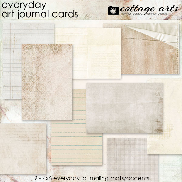 Everyday Art Journal Cards Digital Art - Digital Scrapbooking Kits