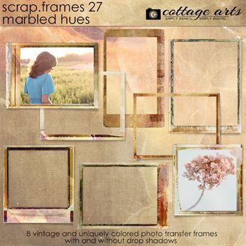 Scrap.frames 27 - Marbled Hues Digital Art - Digital Scrapbooking Kits