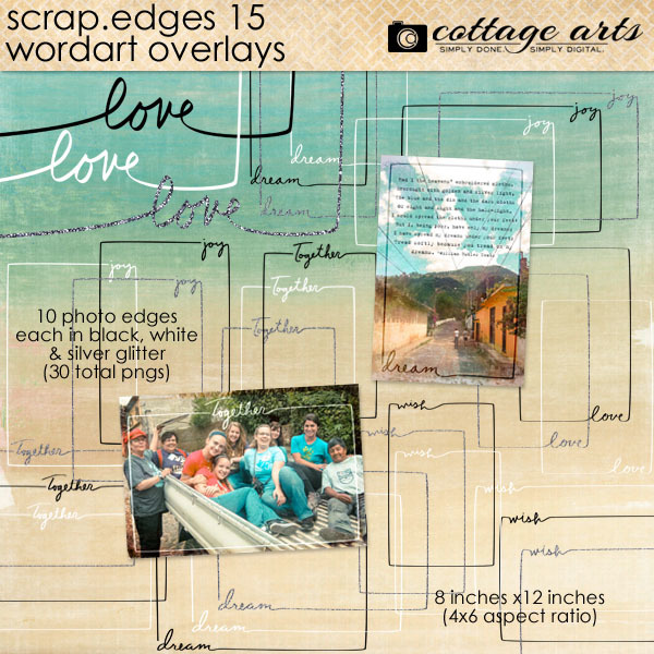 Scrap.edges 15 - Word Art Overlays Digital Art - Digital Scrapbooking Kits
