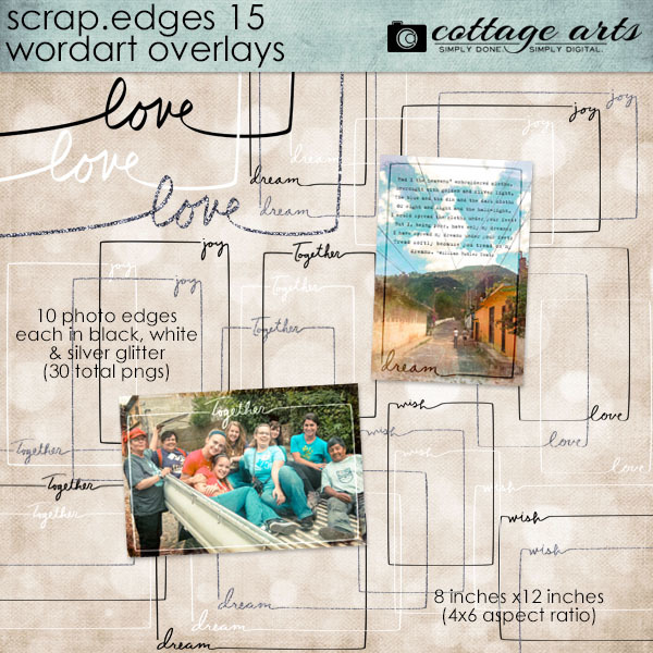 Scrap.edges 15 - Word Art Overlays Digital Art - Digital Scrapbooking Kits