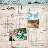 Scrap.edges 15 - Word Art Overlays