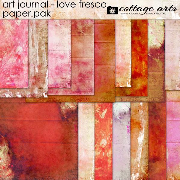 Art Journal - Love Fresco Paper Pak Digital Art - Digital Scrapbooking Kits