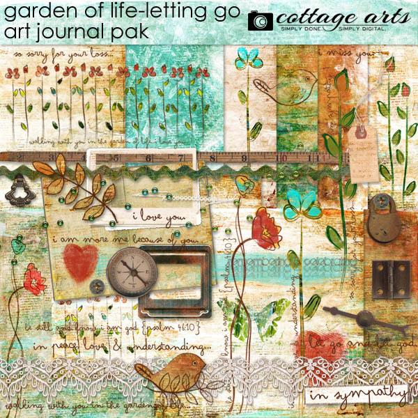 Garden Of Life - Letting Go Art Journal Pak Digital Art - Digital Scrapbooking Kits