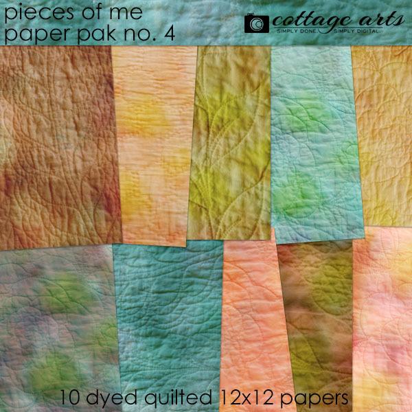 Pieces Of Me 4 Paper Pak Digital Art - Digital Scrapbooking Kits