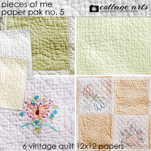 Pieces Of Me 5 Paper Pak Digital Art - Digital Scrapbooking Kits