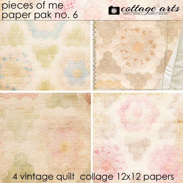 Pieces Of Me 6 Paper Pak Digital Art - Digital Scrapbooking Kits
