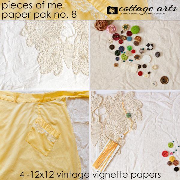 Pieces Of Me 8 Paper Pak Digital Art - Digital Scrapbooking Kits