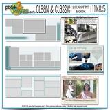 11x8.5 Clean & Classic Blueprint Book