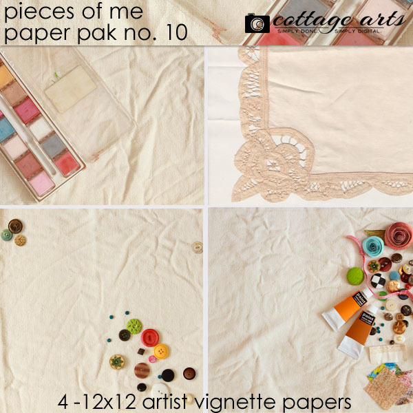 Pieces Of Me 10 Paper Pak Digital Art - Digital Scrapbooking Kits
