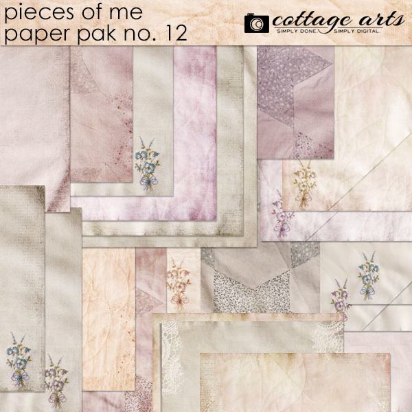 Pieces Of Me 12 Paper Pak Digital Art - Digital Scrapbooking Kits