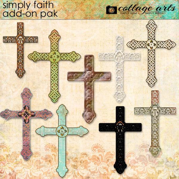 Simply Faith Add-on Pak Digital Art - Digital Scrapbooking Kits
