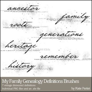 My Family Genealogy Definitions No1