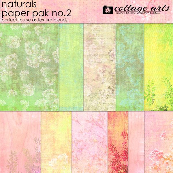 Naturals 2 Paper Pak Digital Art - Digital Scrapbooking Kits