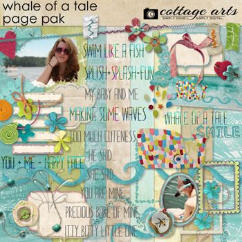 Whale Of A Tale Page Pak Digital Art - Digital Scrapbooking Kits