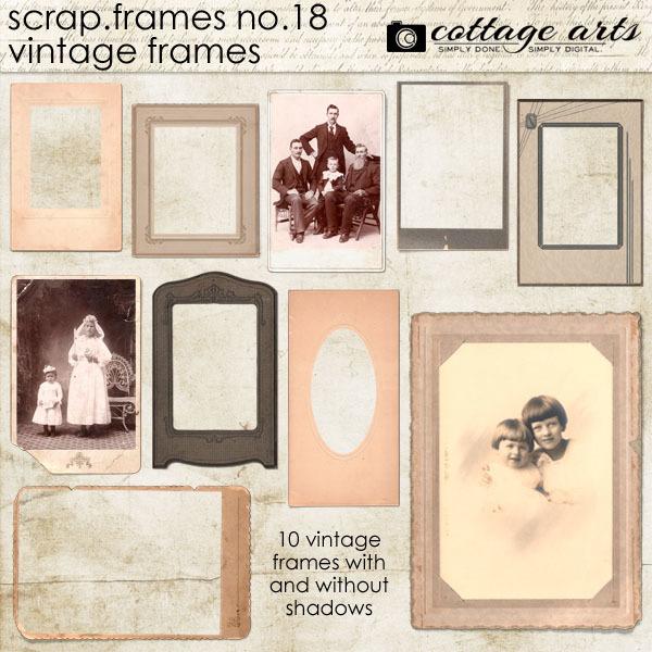 Scrap.frames 18 - Vintage Frames Digital Art - Digital Scrapbooking Kits