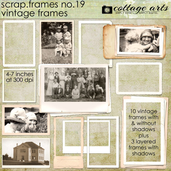 Scrap.Frames 19 – Vintage Frames Digital Art - Digital Scrapbooking Kits