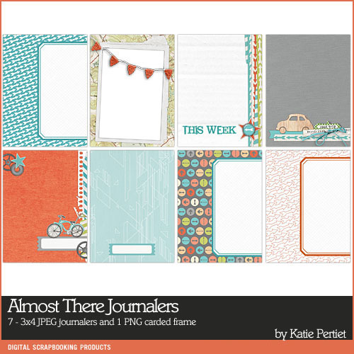 Almost There Journal Cards Digital Art - Digital Scrapbooking Kits